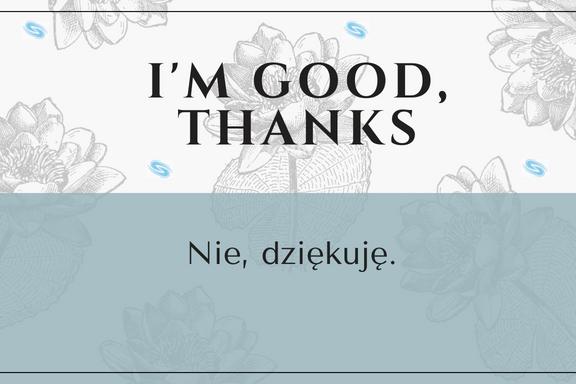 Nie, dziękuję.